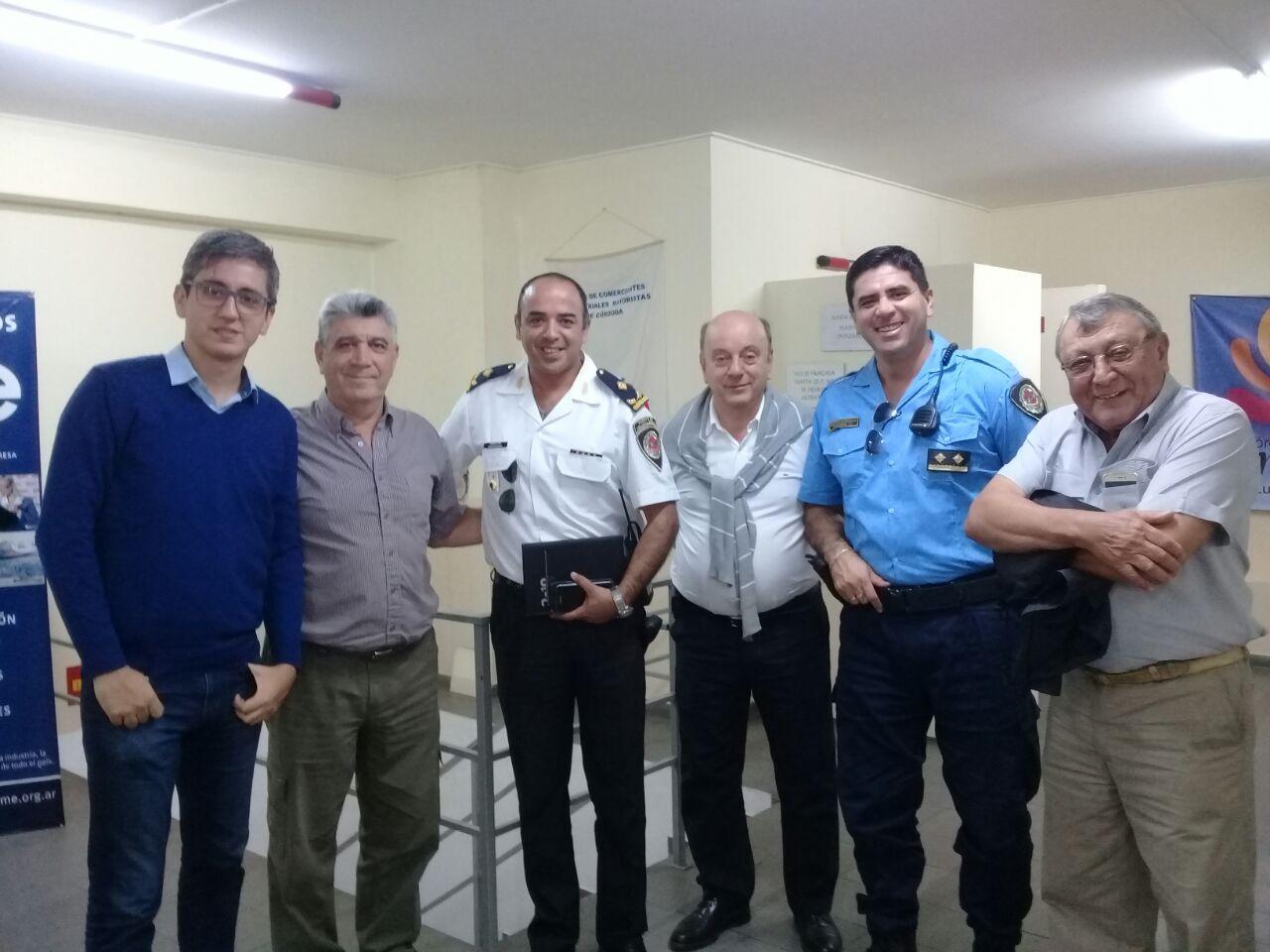 Reunión con nuevos jefes de policia